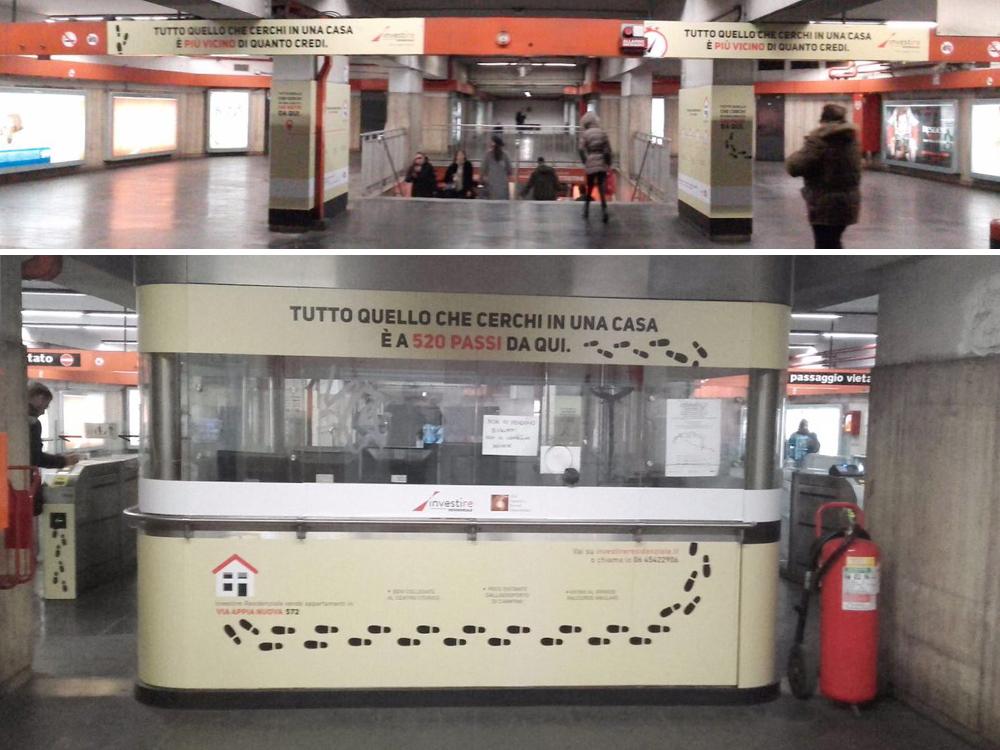Pubblicità Metro Roma